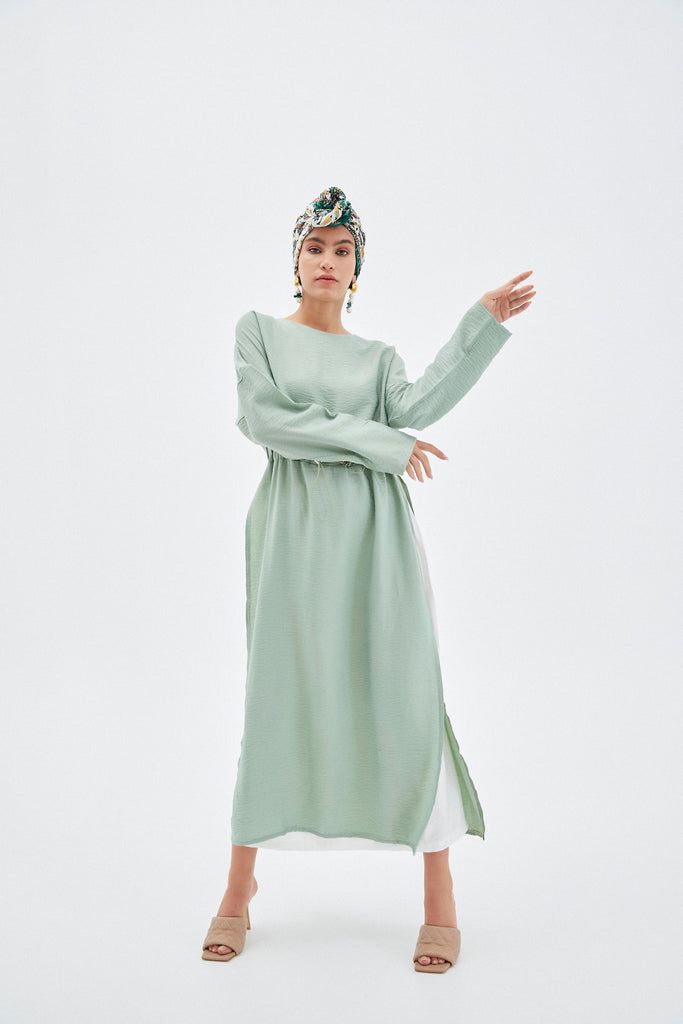 Fleur Mint Green Maxi Dress