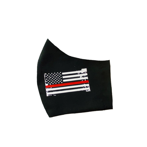 Thin Red Line  Face Mask