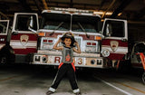 firefighter, dress-up, photos, fun, costume, everyday, trendy, hero, handmade, small business, cotton, toddler, kids, fashion, family, photos, cute