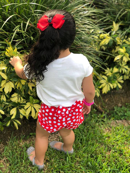 Red Polka Dot Bow Bloomers
