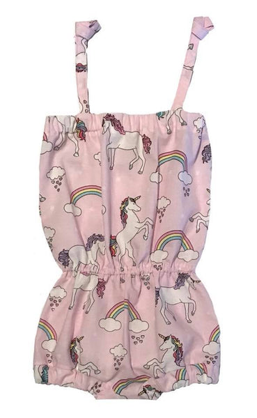 unicorn, sunsuit, romper, one year, rainbows