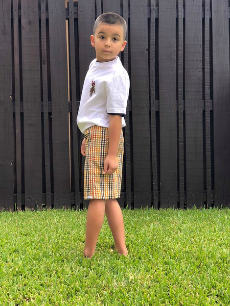 boys, shorts, photo, toddler, plaid, trendy, ootd, handmade, fashion