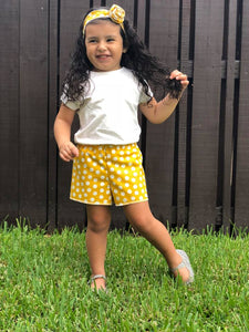 Mustard Polka Dot Shorts