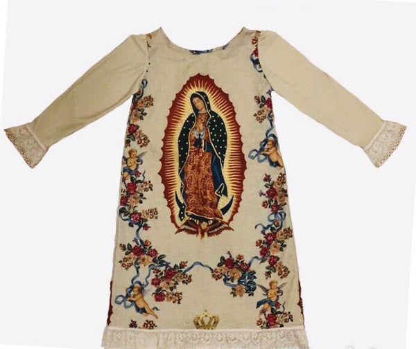 dress, church, Virgin Mary, lace, fashion, handmade