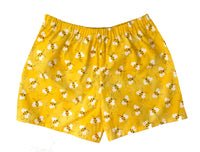 shorts, girls, toddler, bees, bee, bumblebee, yellow, handmade, shop small