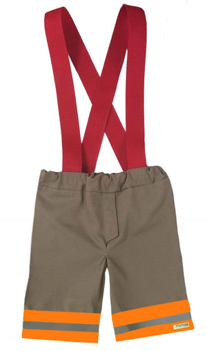 Firefighter Suspender Shorts (Boys)
