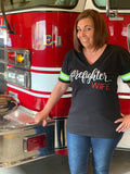 firefighter, wife, tee, shirt, women, mom, fashion, trendy, ootd