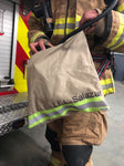 firefighter, think red line, mask, bag, gear, fireman, handmade, trendy, fashion, dad, father, gift