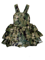 romper, ruffled, ruffles, camouflage, camo, girls, toddler, trendy