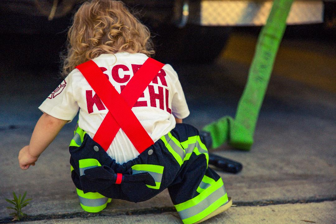 Firefighter Suspender Pants (Girls)