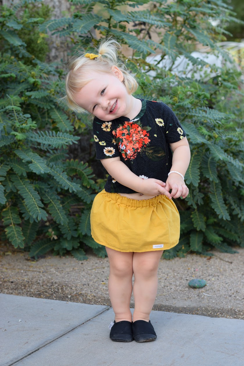 mustard, skirt, fall, solid, handmade, small shop, trendy, fashion, toddler, girls, baby