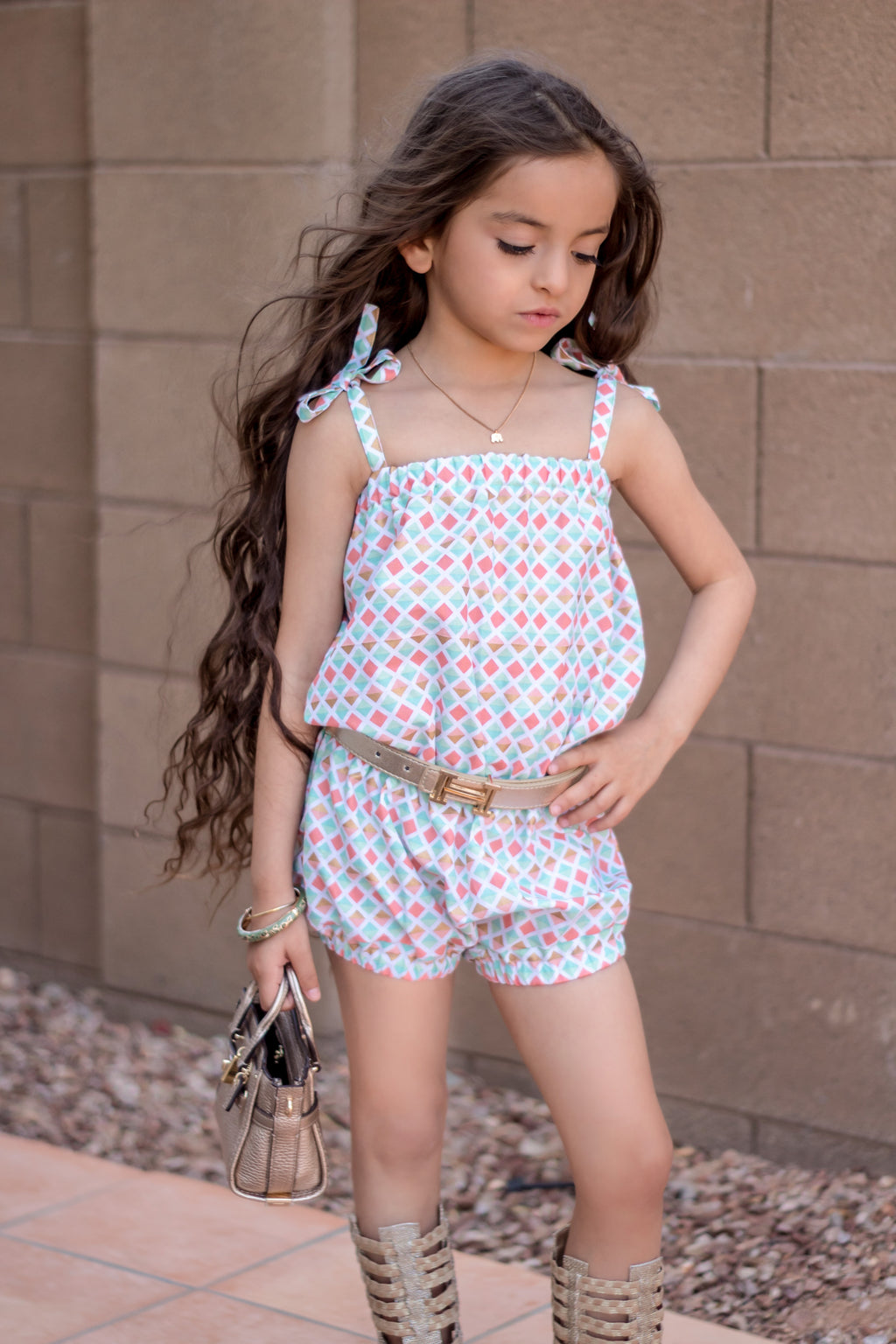 Diamond Sunsuit Romper