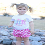 Pink and White Polka Dot Bow Bloomers