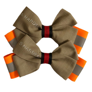 bows, fireman, firefighter, handmade, dress up