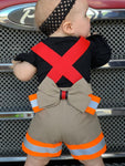 Firefighter Suspender Shorts (Girls)
