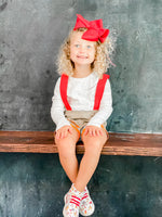 Firefighter Suspender Shorts for Girls