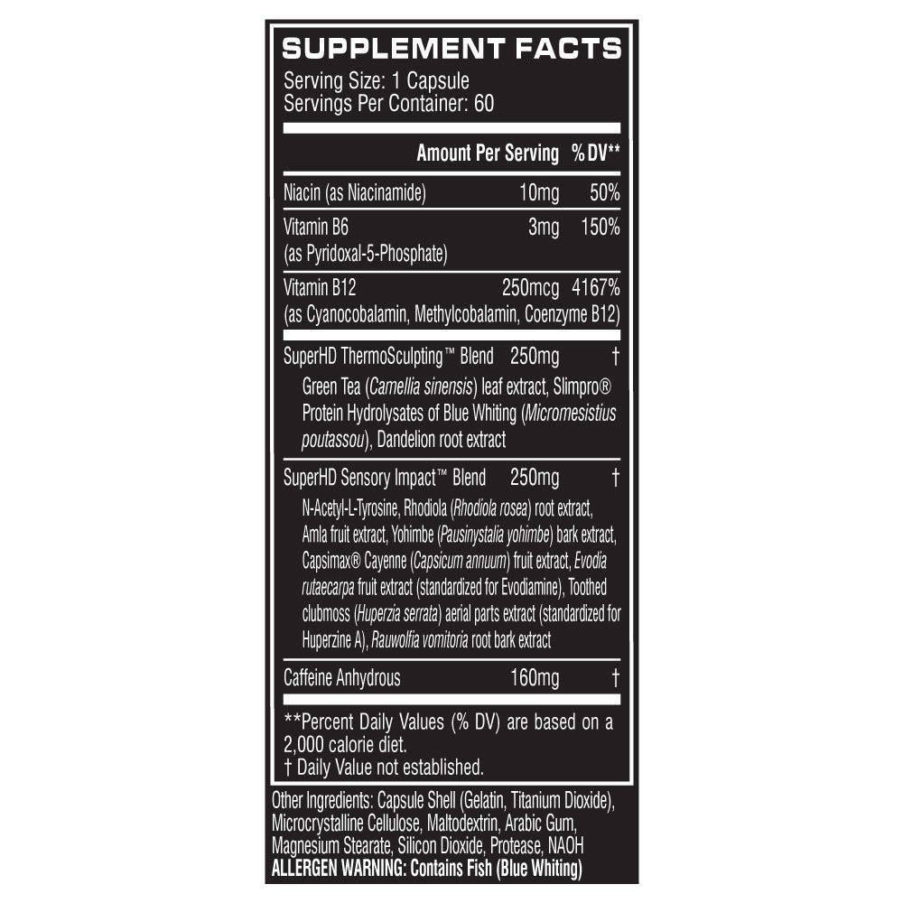 Copy of Cellucor Super HD Thermogenic Fat Burner Supplement for Weight Loss