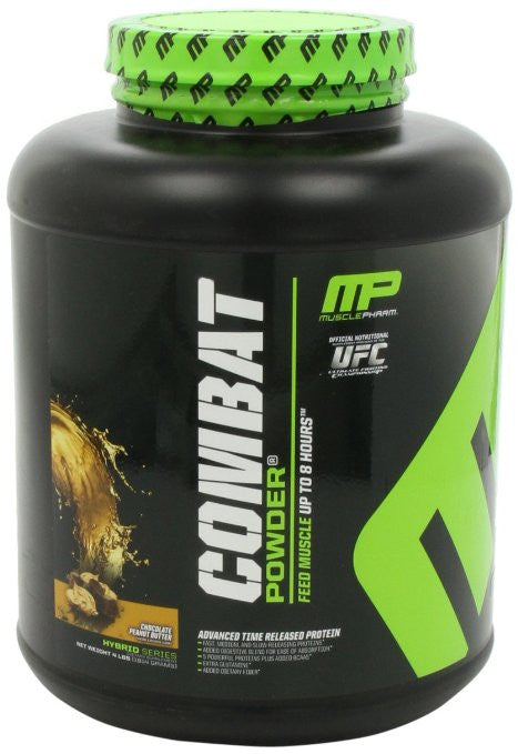 Muscle Pharm Combat Powder Advanced Time Release Protein, Chocolate Peanut Butter