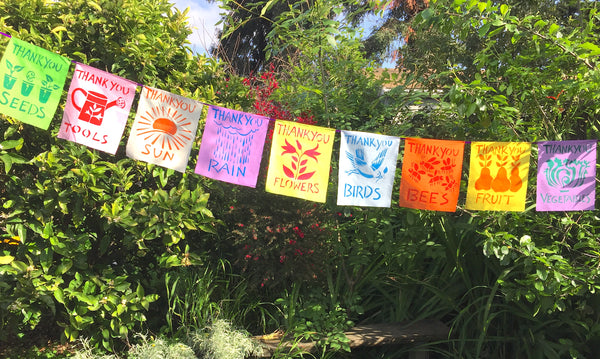 Gardening Thank You Flags; Set of 9