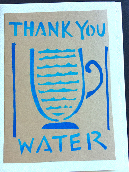 Handmade Card: Thank You Water
