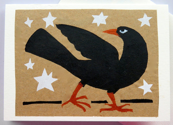 Handmade Card: Black Crow