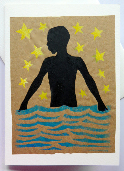 Handmade Card: Boy in the Water
