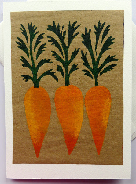 Handmade Card: Carrots