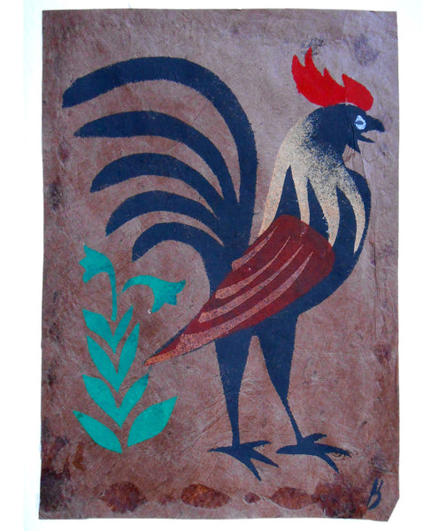 Handmade Card: Crowing Rooster