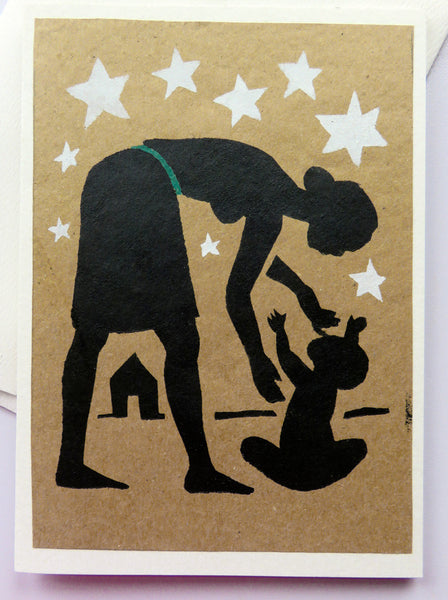 Handmade Card: Mother & Baby