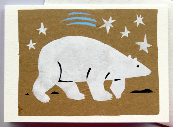 Handmade Cards: Polar Bear & Stars