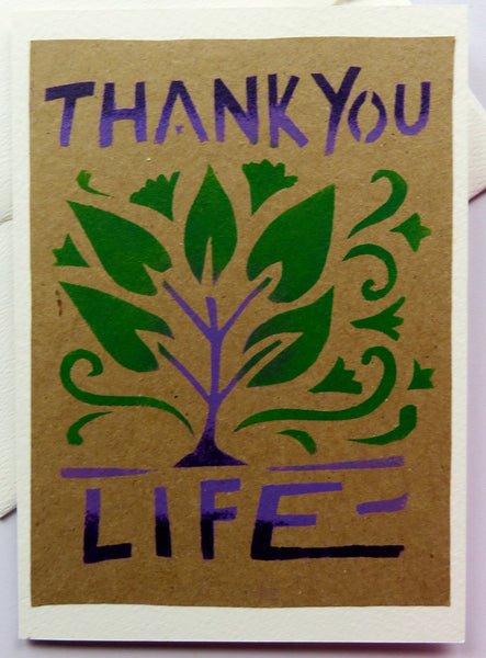 Handmade Card: Thank You Life