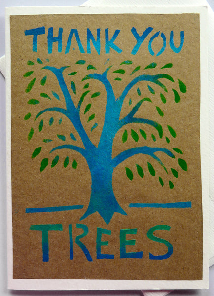 Handmade Card: Thank You Trees