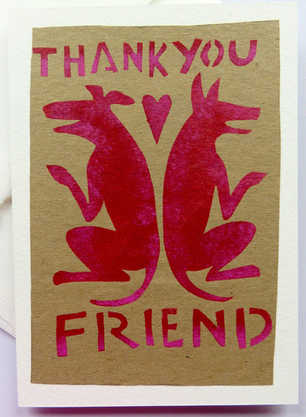 Handmade Card: Thank You Friend (Dogs)
