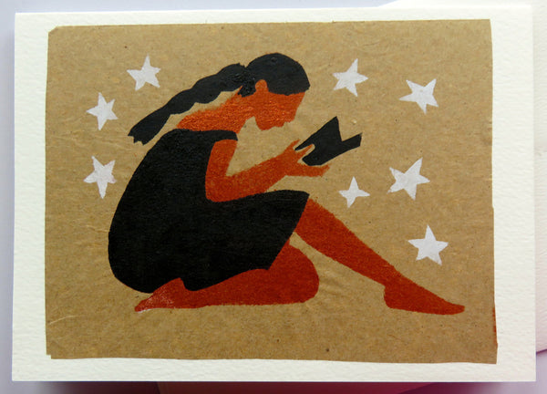 Handmade Card: Woman Reading