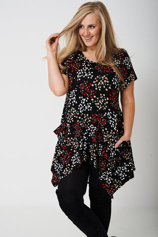 PLUS Tunic Top in All-Over Floral Print