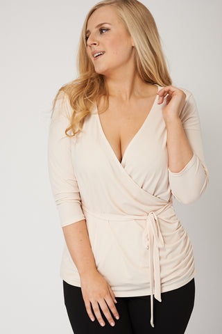 Cream Wrap Top Ex-Branded