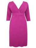 Captive Curve MAGENTA 3/4 Sleeve Shift Dress