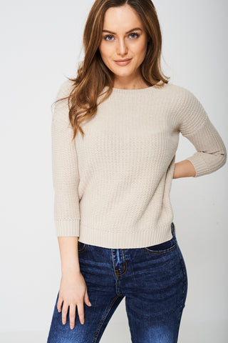 Zip Back Cropped Jumper
