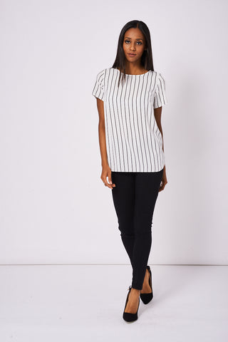 Tie Back Stripe Blouse Ex-Branded