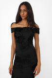 Black Off Shoulder Dress Ex Brand
