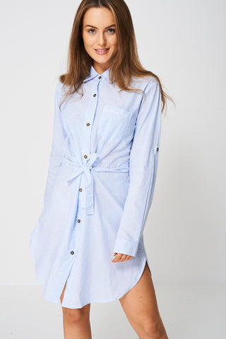 Shirt Dress In Stripes Ex-Branded
