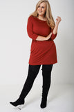 PLUS BASIC Tunic Top in Orange