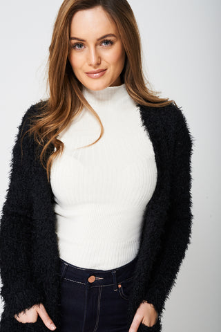 Super Soft Cardigan in Fluffy Finish