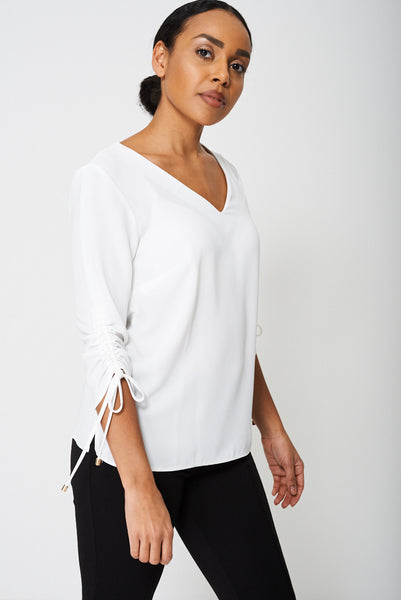 Ruched Sleeve Blouse Ex-Branded