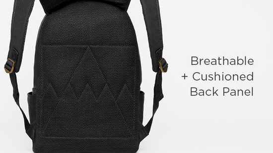 Breathable + Cushioned Back Panel