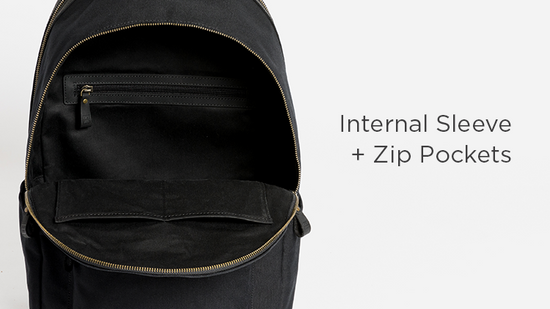 Internal Sleeve + Zip Pockets