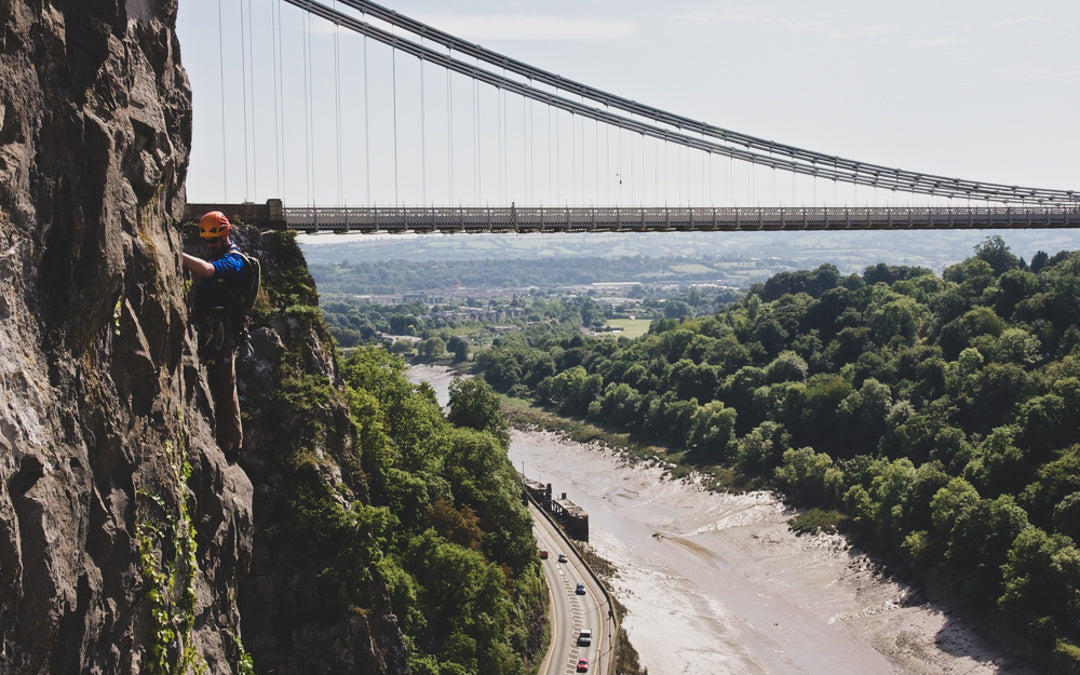 Rock climb in Bristol above the avon