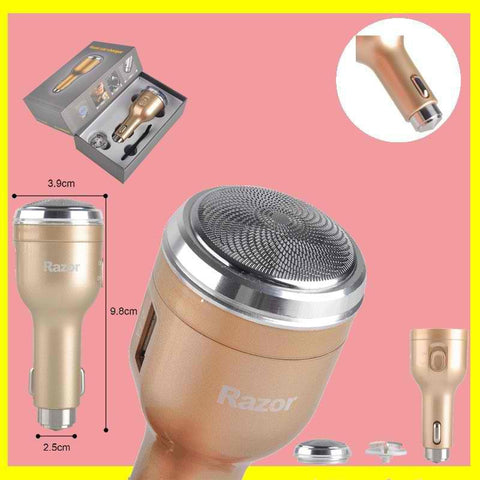 2.1A Gold Multifunctional Razor Car Charger