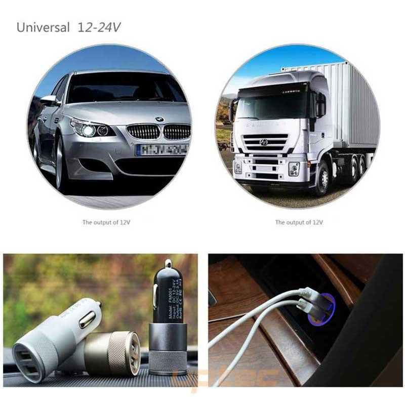 Universal 2-Port USB Car Phone Fast Charger