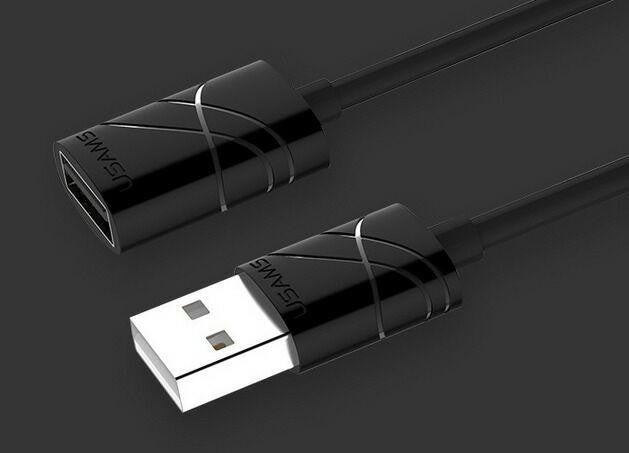 2 Meter Black USB Cable Extension